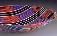 Martin Kremer Textile Pattern Fused Glass Bowl
