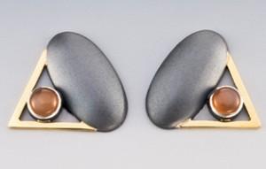 Janis Kerman peach moonstone earrings