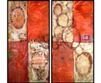 Elephant Cells-Encaustic Painting