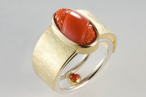 Janis Kerman Carved Coral Ring