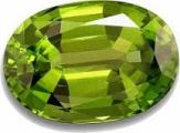 Faceted Oval Peridot Gemstone