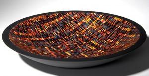 """""""Evidence"""" Martin Kremer Fused Glass Plate"""
