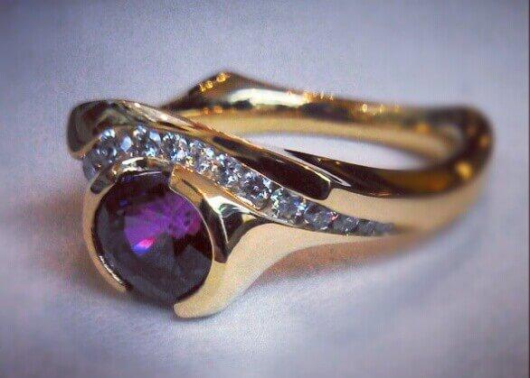 grape sapphire ring
