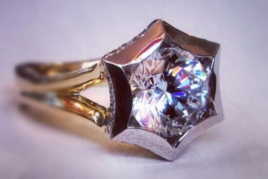 Star Diamond Engagement Ring Setting