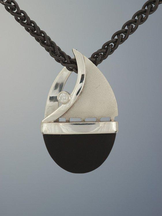 Patrick Murphy Onyx Sailboat Pendant