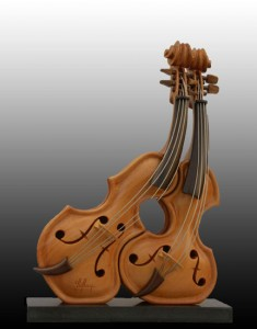 Affection Violin Sculpture Philippe Guillerm