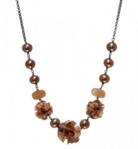 Chihiro Makio Rose 3 Bead Flora Necklace