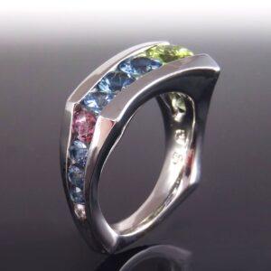 Multi Stone Floating Ring