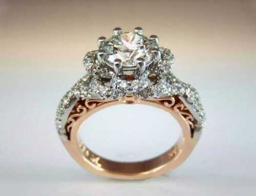 Platinum & Rose Gold Engagement Ring