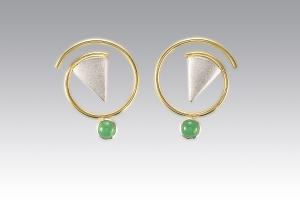 Janis Kerman Chrysocolla Circle Earrings