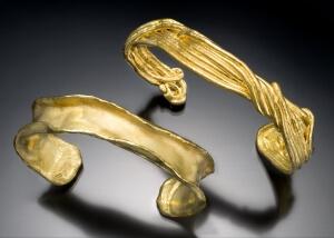 Pure Gold & Native Gold Cuff Bracelets