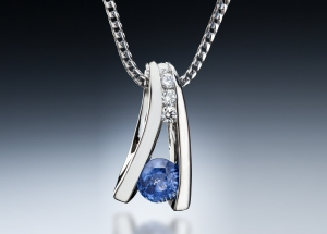 Floating Sapphire Pendant