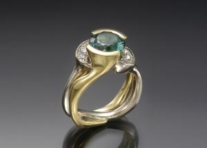 Two Tone Tourmaline Ring