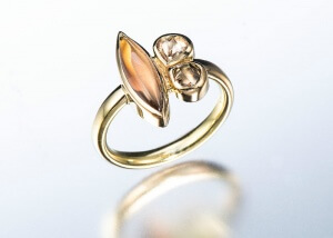 Janis Kerman Golden Marquis Ring