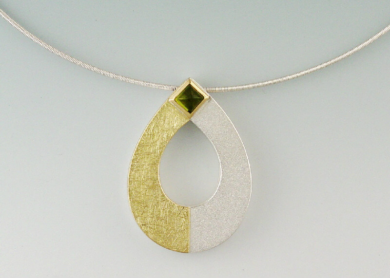 Janis Kerman Two Tone Teardrop Necklace