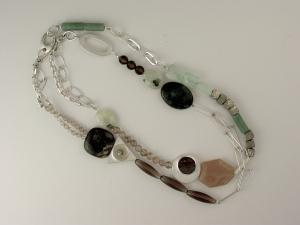 Janis Kerman Quart Link Necklace