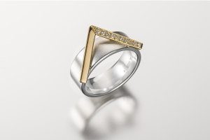 Janis Kerman Acute Two Tone Ring