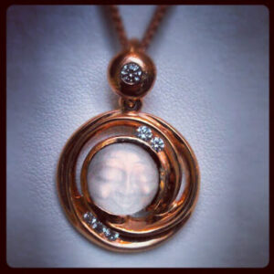 Red Gold Moonstone Pendant