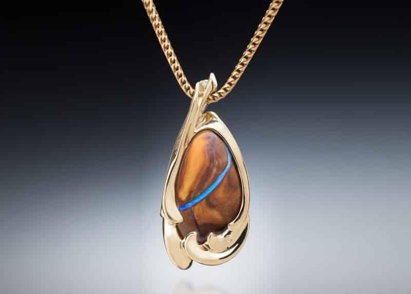 Boulder Opal Pendant Back