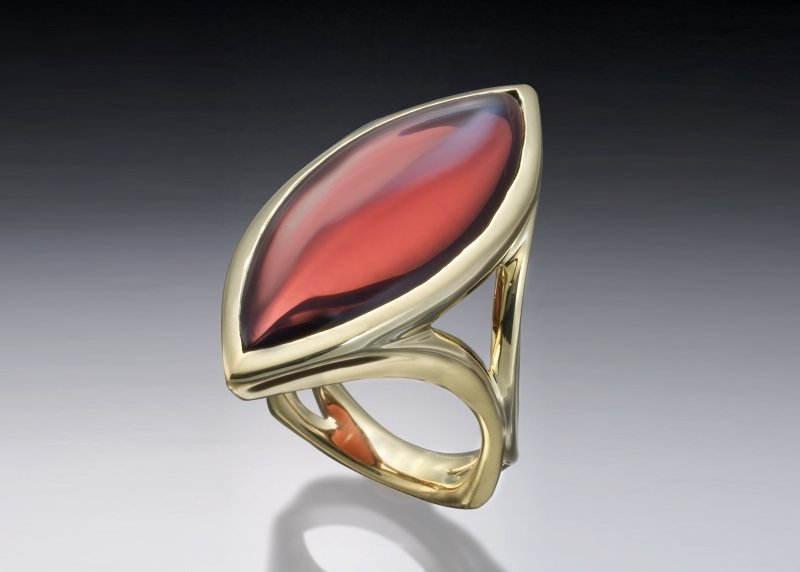 Garnet Marquis Ring