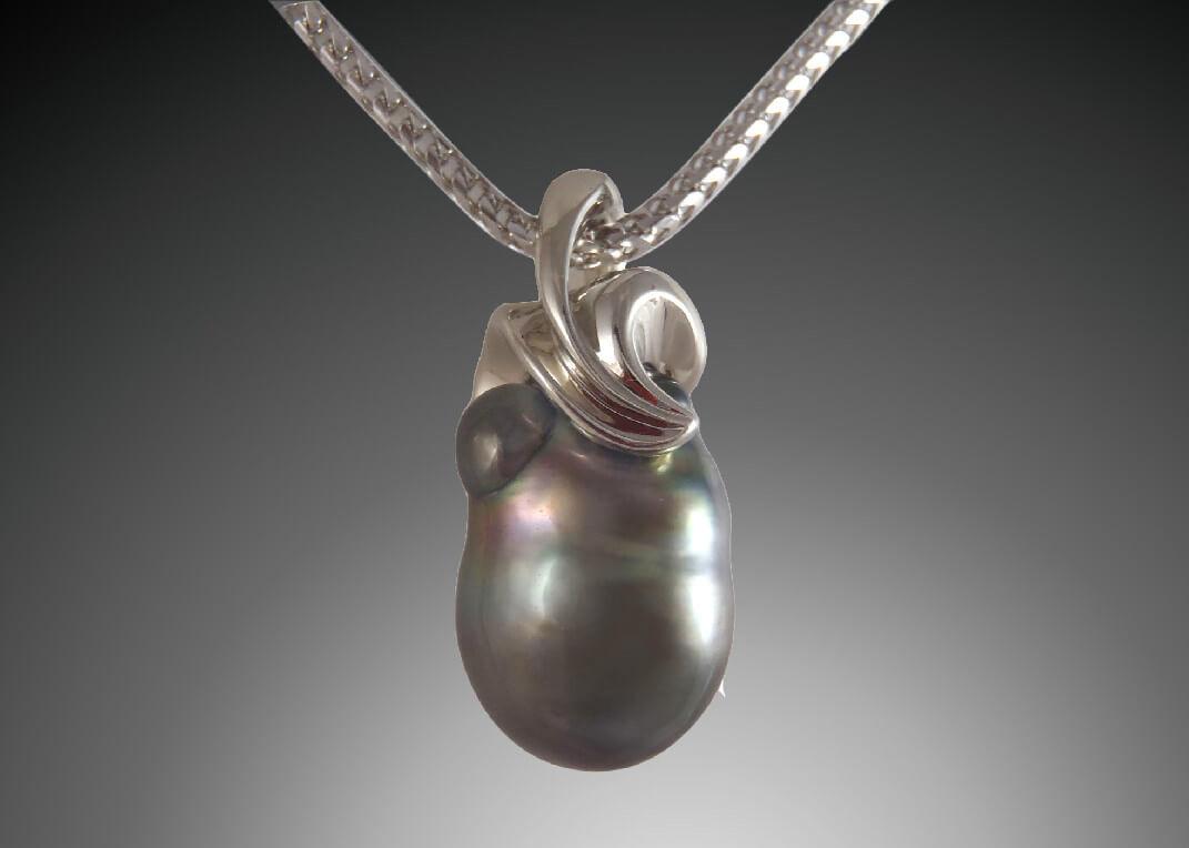Tahitian Baroque Pearl Pendant