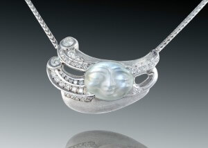 Diamond Wind Moonstone Pendant