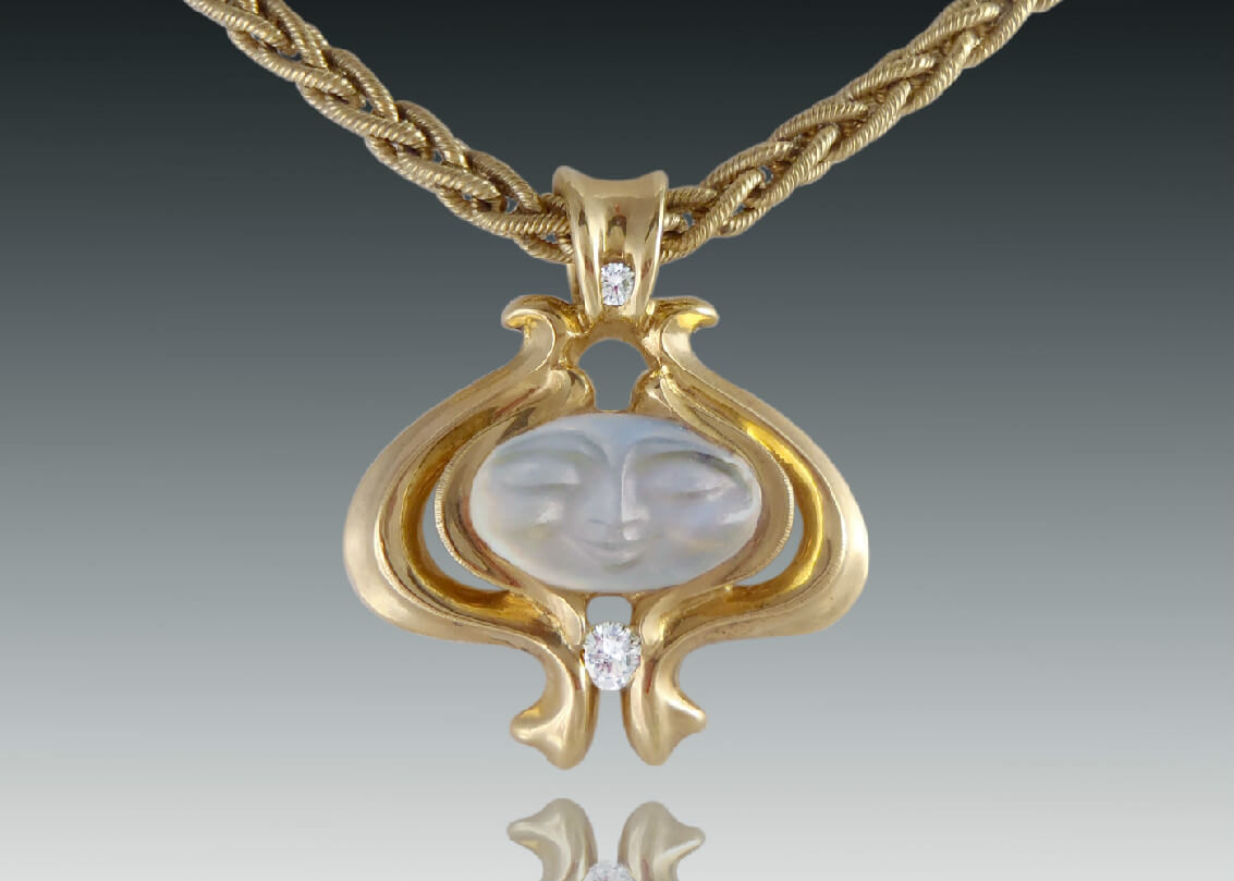 Baroque Moonstone Pendant