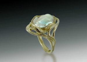 Art Nouveau Pearl Ring