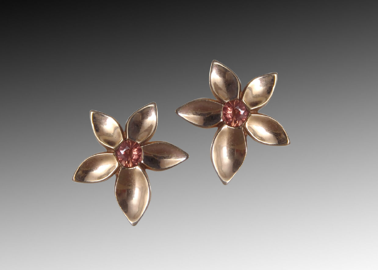 Pink Gold Jasmine Earrings