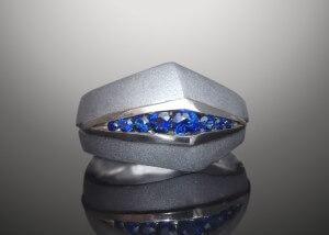 Steel & Sapphire Ring