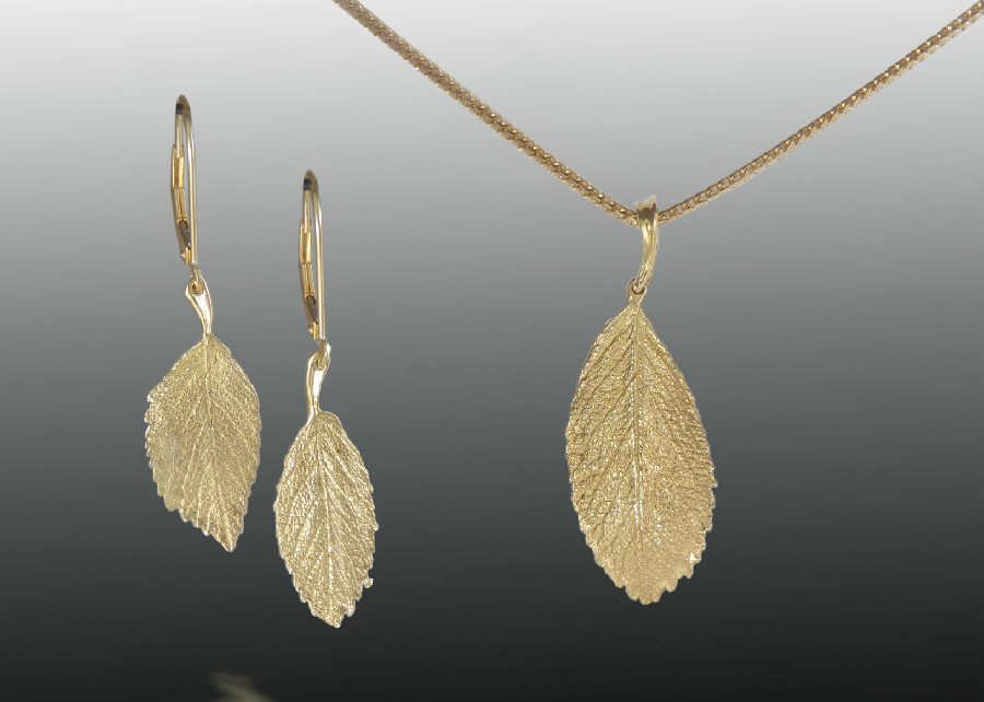 Rosa Rugosa Leaf Earrings Pendant