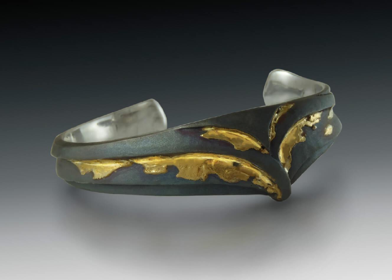 Steel 24K Gold Bracelet