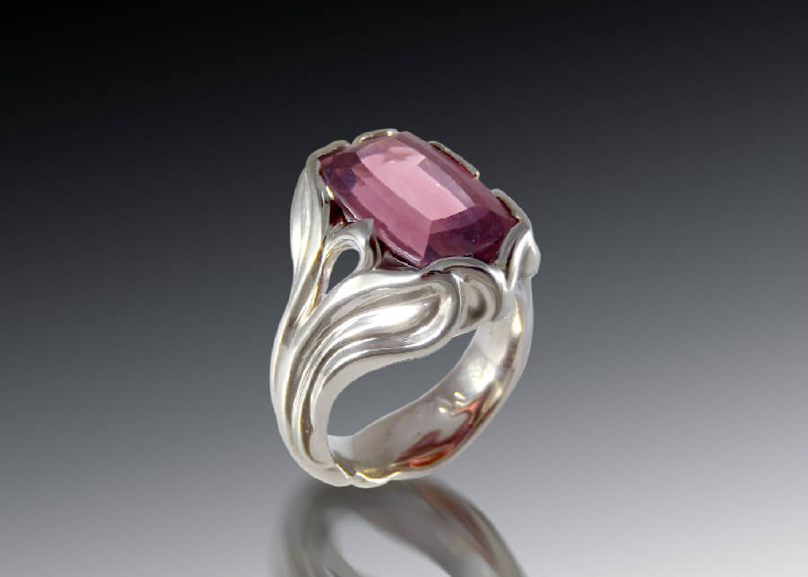 Tourmaline Art Nouveau Ring