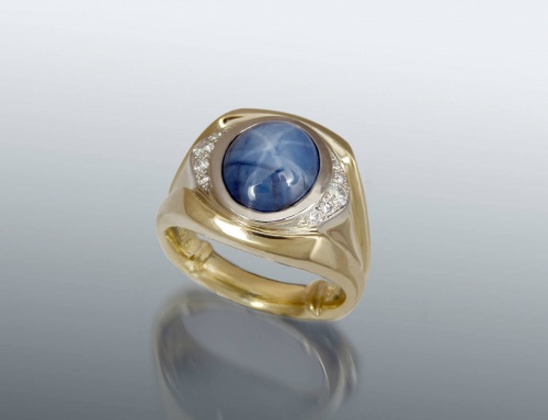 Star Sapphire Mens Ring