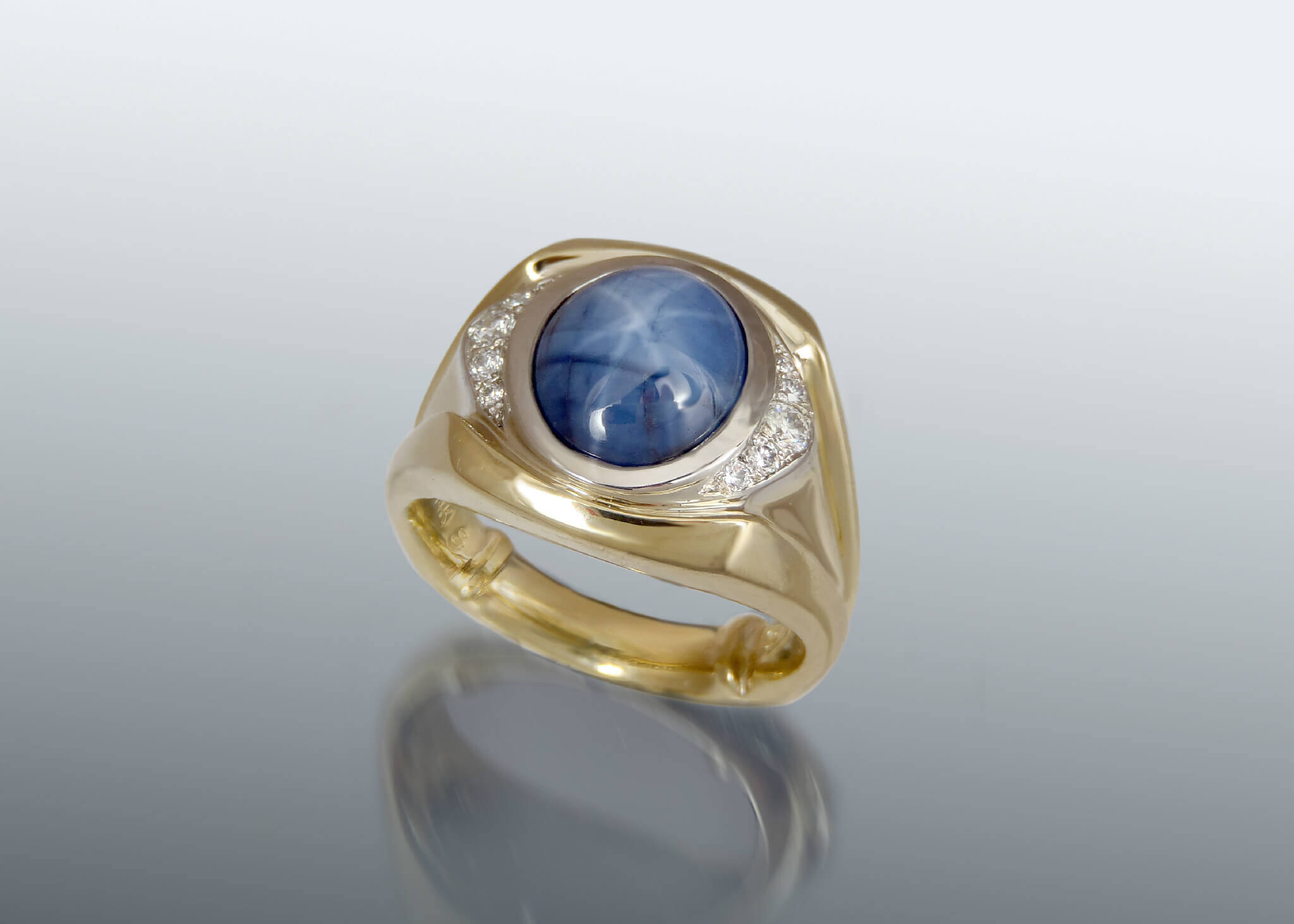and t lab men created pin gold white sapphire w diamond carat ring blue jewellery for