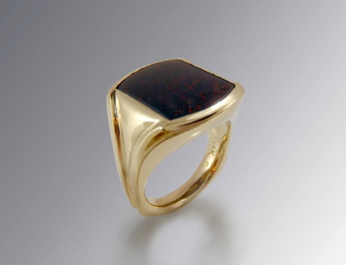 Bloodstone Signet Ring