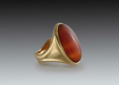 carnelian cabochon mens ring