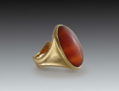 Carnelian Cabochon Ring