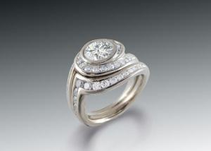wavy diamond bridal set