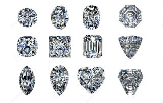Various diamond shapes
