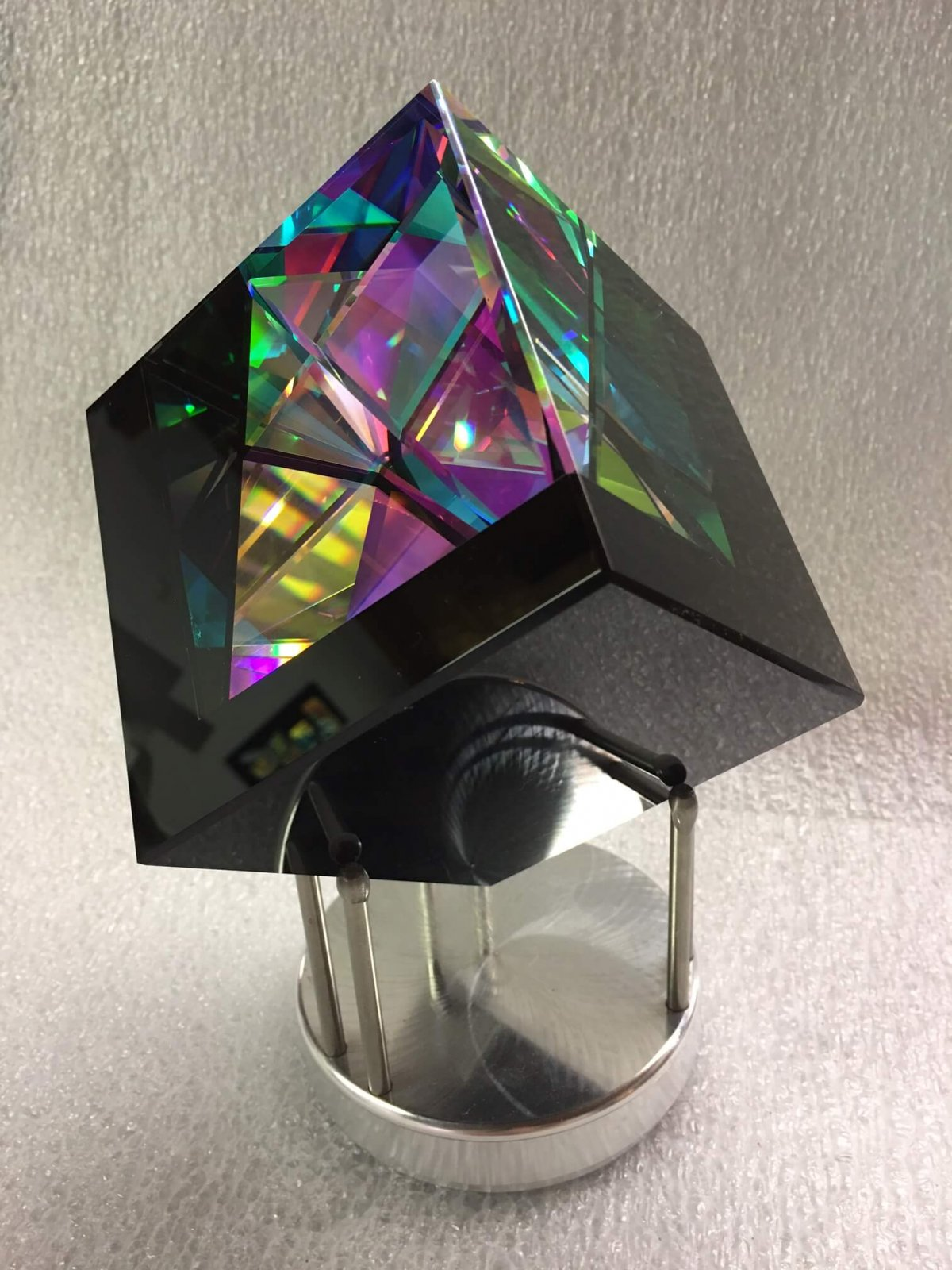 Robert Stephan Dichroic Glass Cube