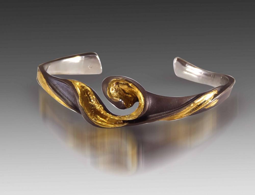 Golden Swirl Cuff