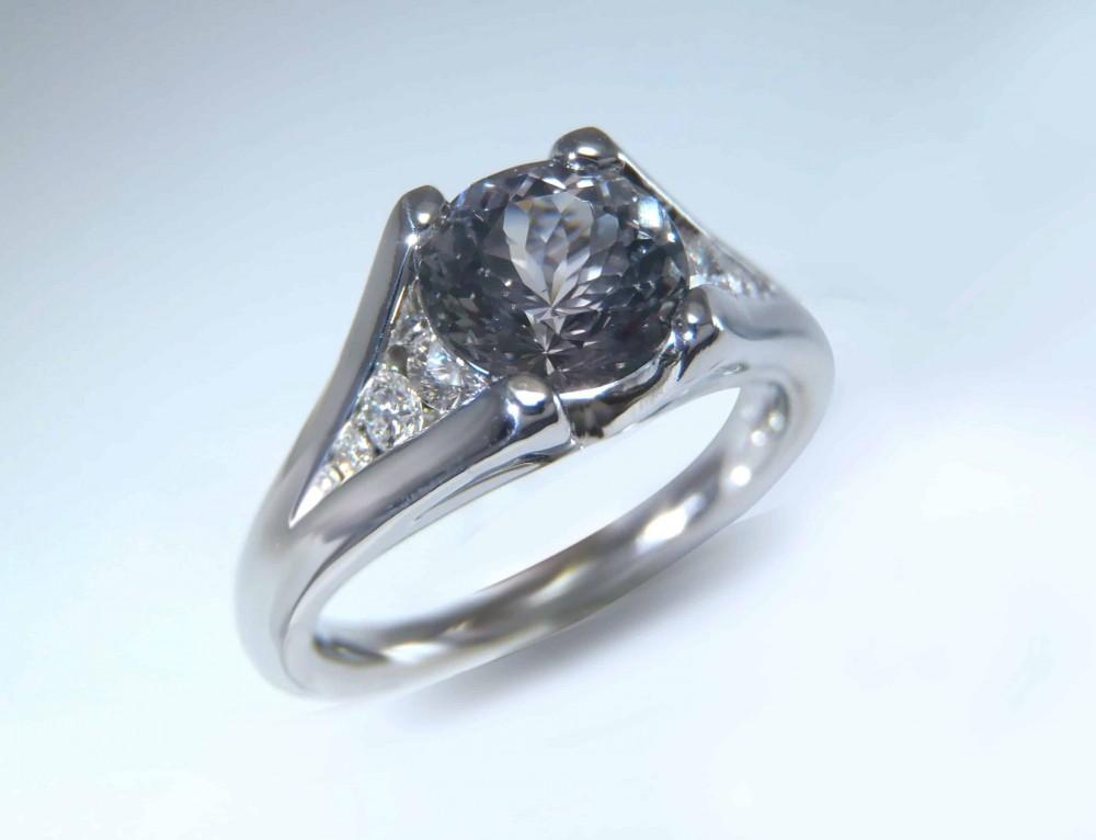Gray Sapphire Ring
