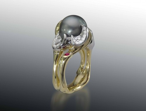 Tahitian Pearl Gemstone Ring