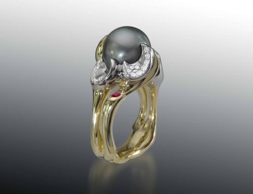 Tahitian Pearl Gemstone Ring