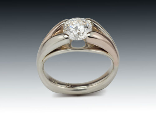 Two Tone Diamond Solitaire