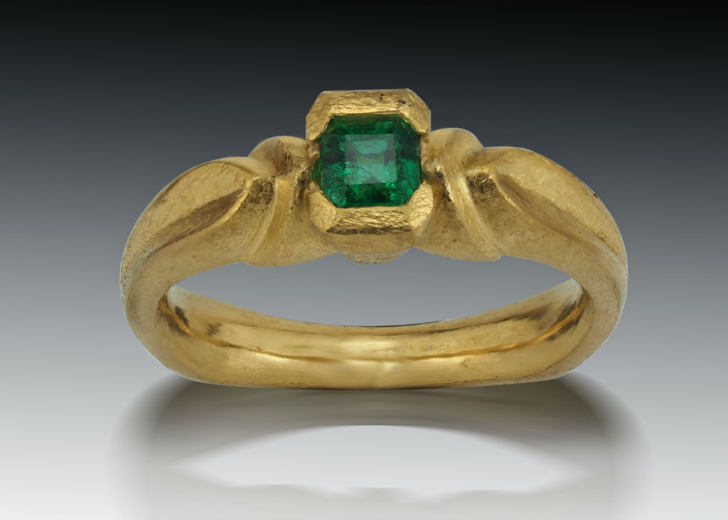 Emerald 22K Ancient Ring