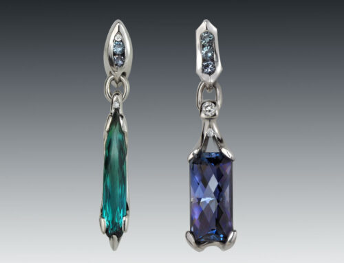 Tanzanite Tourmaline Drop Earrings