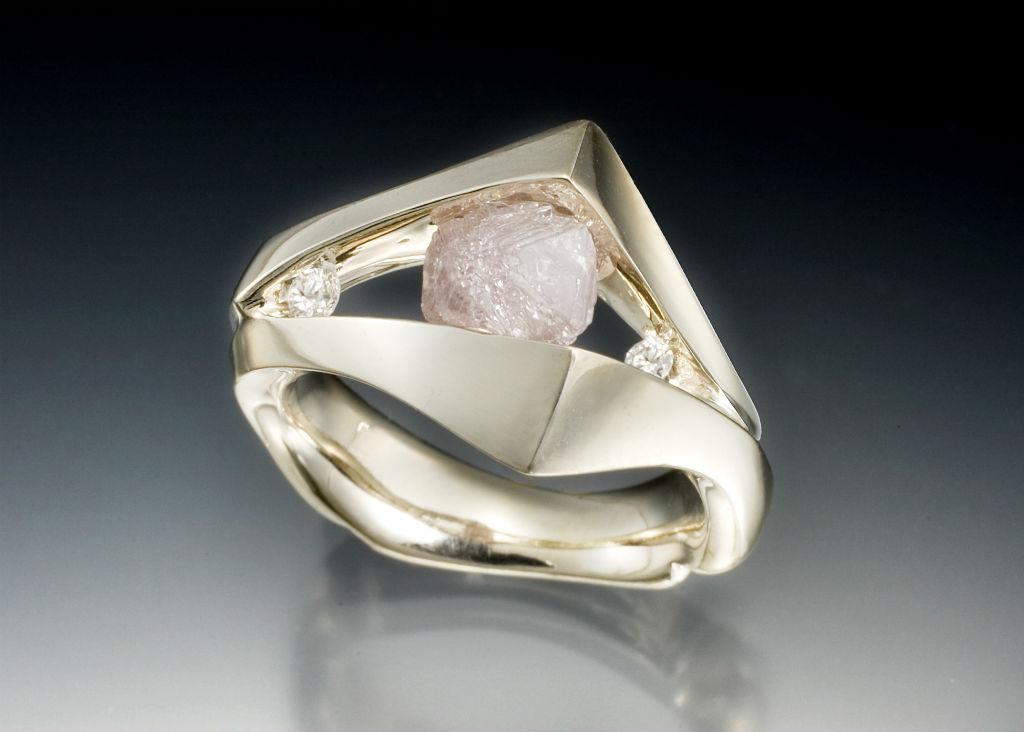 Floating Diamond Crystal Ring
