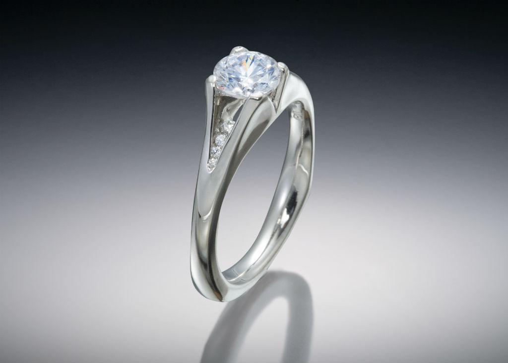 Multi Stone Diamond Princess Engagement Ring